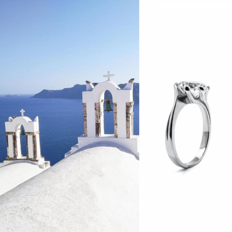 šperky milan jiříček zásnubní prsten santorini