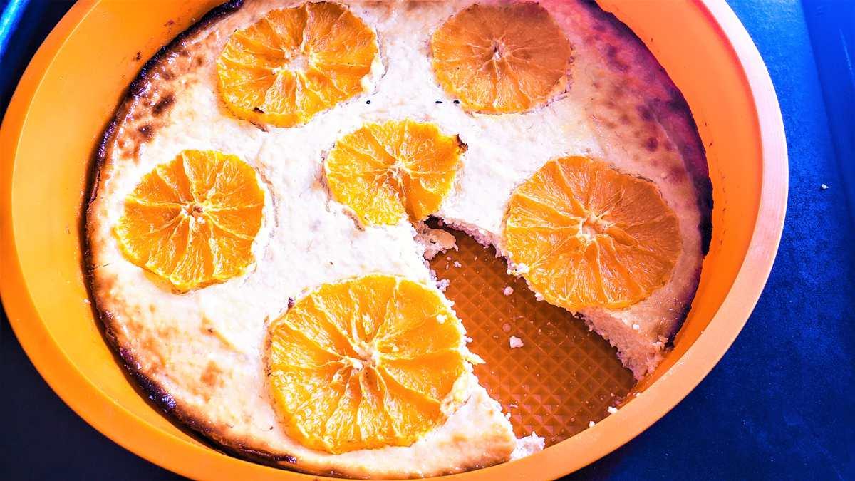 zdravý citrusový tvarožník