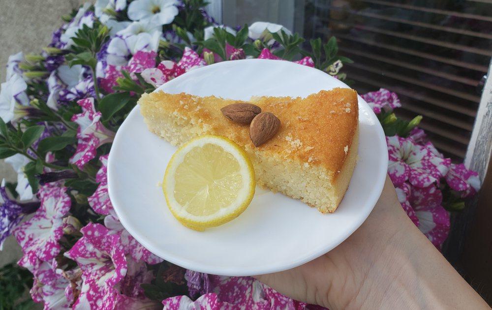 mandlový ricottový koláč citronový