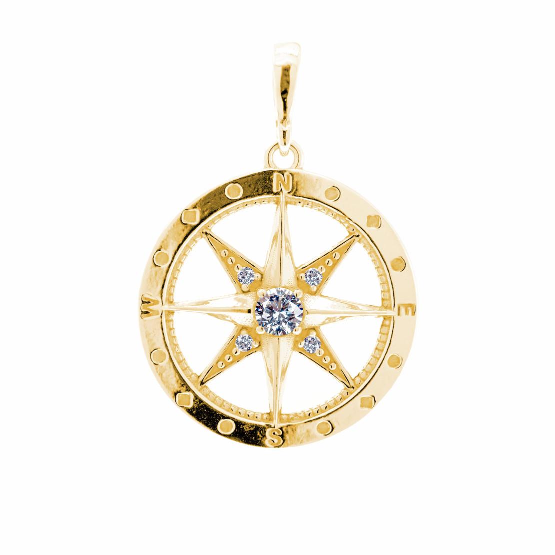 Zlatý přívěsek Kompas z kolekce Polárka