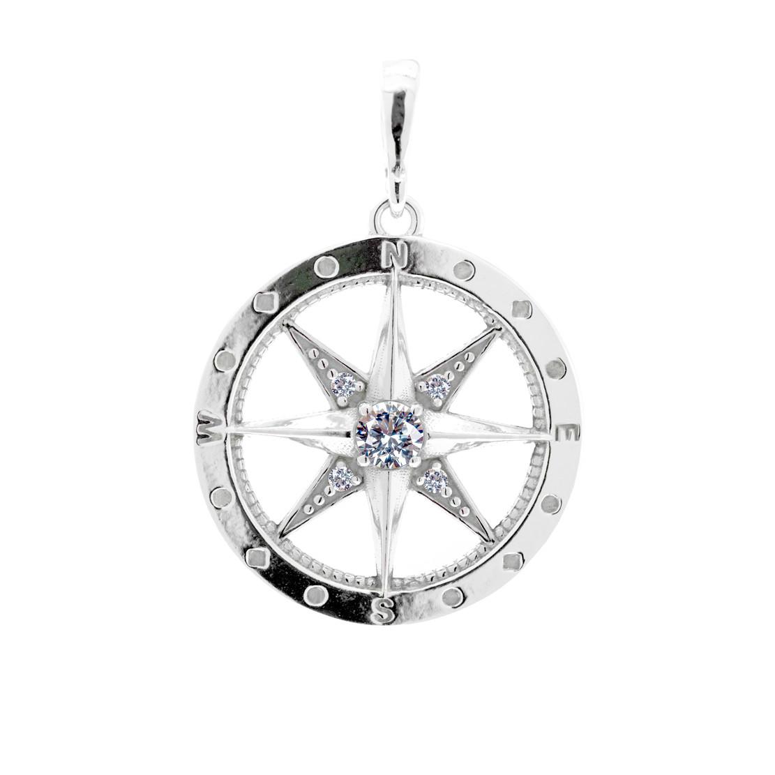 Stříbrný přívěsek Kompas z kolekce Polárka