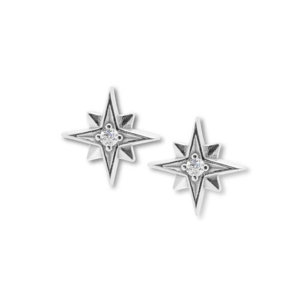 stříbrné náušnice hvězdy mini stella