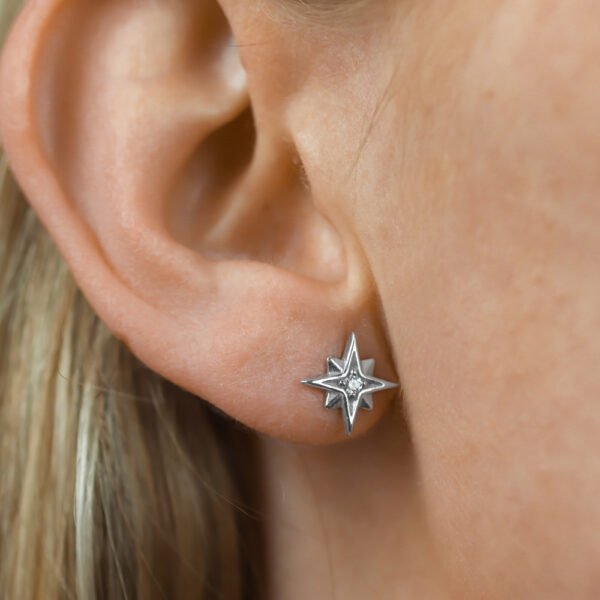 stříbrné náušnice hvězda