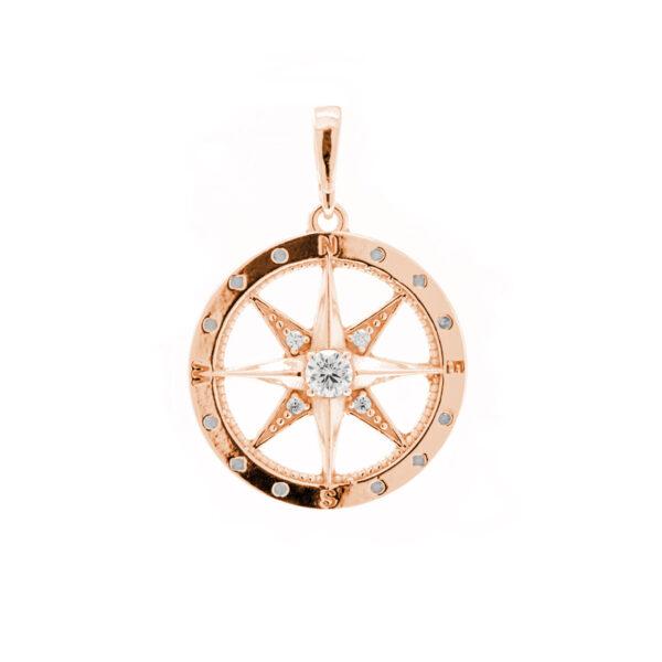 polárka přívěsek kompas růžové zlato